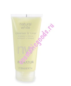 Natural White Cleanser  Toner / Натурал Вайт Клинзер Энд Тонер, Belnatur 200 мл